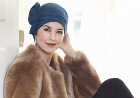 Blue Plain Headscarf at Inspirations Wigs Bridgend
