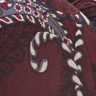 Burgandy Patterned Headscarf at Inspirations Wigs Bridgend