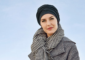 Grey Plain Headscarf at Inspirations Wigs Bridgend