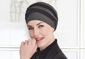 Grey Stripe Headscarf at Inspirations Wigs Bridgend